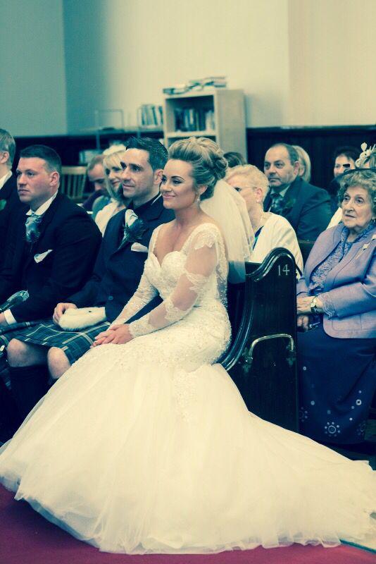 Gorgeous gown.  Church wedding, Stockbridge Edinburgh