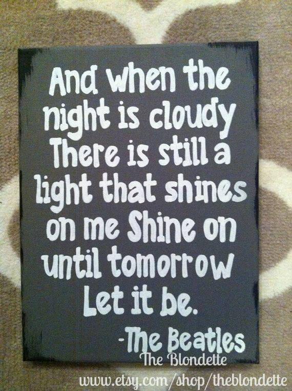 The Beatles. Let it be. Lyrics. 9 x 12 inch canvas. Song lyrics.