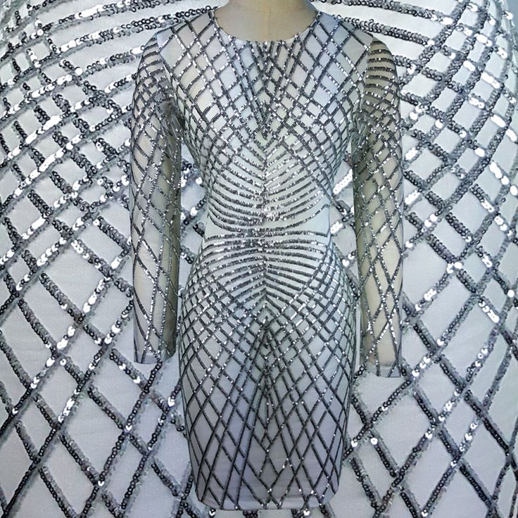Find More Dresses Information about New Sliver Geometric Sequin Bandage Dress Long Sleeve Vintage Office Pencil  Dress Womens Sexy Dresses Party Night Club Dress,High Quality dress with back zipper,China dresses retro Suppliers, Cheap dress star from FreePony Clothing wholesale dropshipping on Aliexpress.com