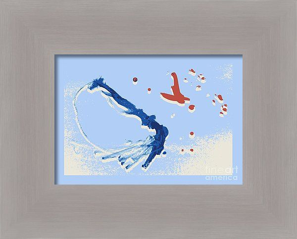 Birds Framed Print featuring the painting Birds by Sverre Andreas Fekjan