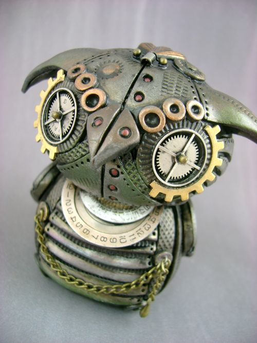 Archimedes the MechOwlie, Steampunk, Mechanical Owl