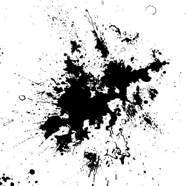Hand Made Grunge Texture Stock Illustration Grunge Textures Ink Splatter Texture