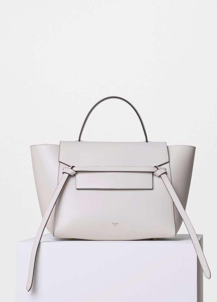 CELINE Smooth and Textured Calfskin Bicolor Micro Luggage Black White