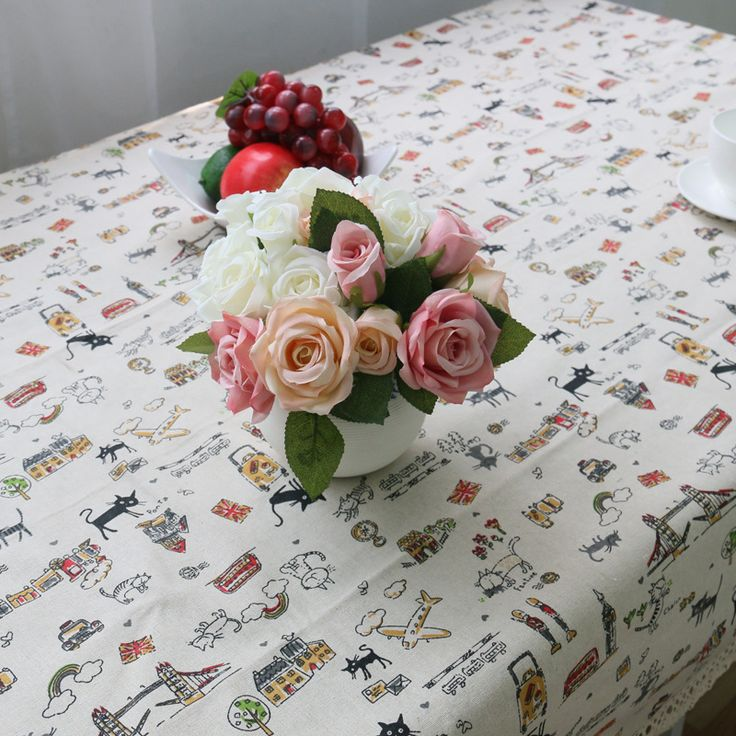 2016 New Arrival Zakka Style Cartoon Cat Linen Table Cloth Tablecloth Table Cover manteles para mesa High Quality Free Shipping #Affiliate