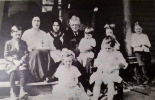 Eugene McCarthy and some of his descendants David Gerald Lee, Josephine McCarthy Lee, Mary Regan, Eugene Thomas McCarthy, Chester Eugene Lee, Margaret McCarthy, Edward McCarthy (their Father Dennis McCarthy was a first cousin to Josephine McCarthy Lee) two girls in the front are Catherine Lee Moran and Virginia Lee Brundage. The Lee kids and Mary Regan are Eugene McCarthy's grandchildren.