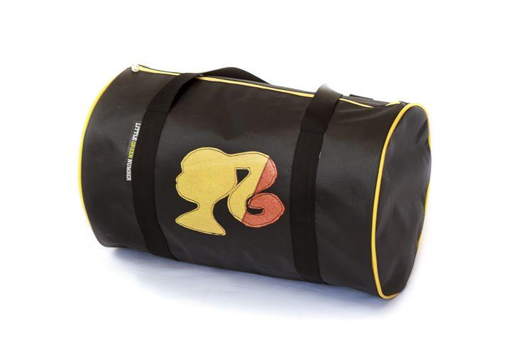 Black Messenger bag with girl applique