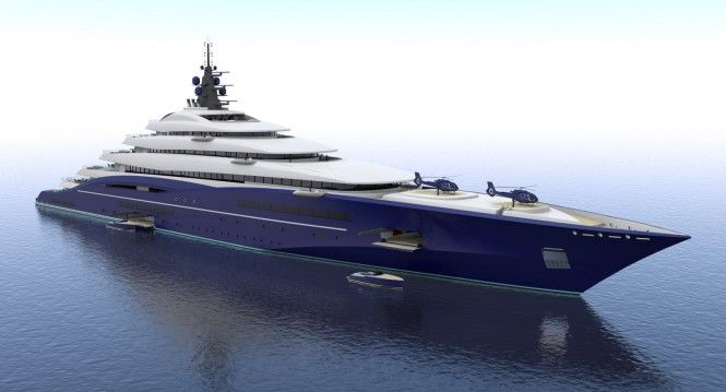 M Ft Mil Mega Yacht Double Century Design By - Giga yacht takes luxury oil tanker sized extreme