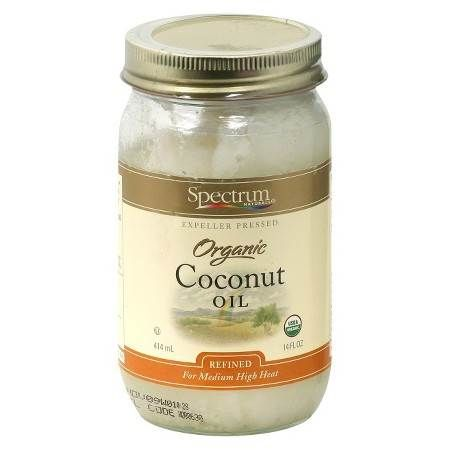 "Spectrum Organic Coconut Oil : ""Organic coconut is great for head-to-toe hydration. Coconut oil an all-natural and single-ingredient product that is great for face, hair and body."""
