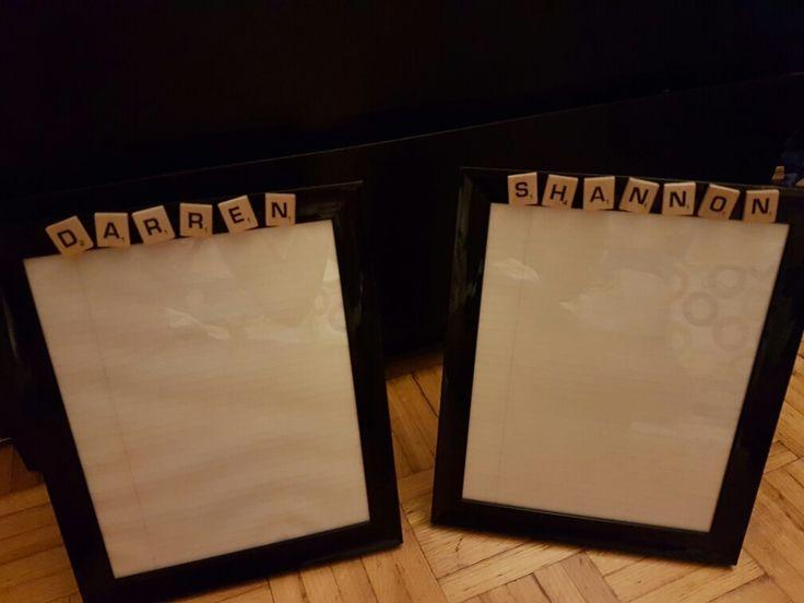 End of year gift for Principal and Vice Principal...custom whiteboard frame