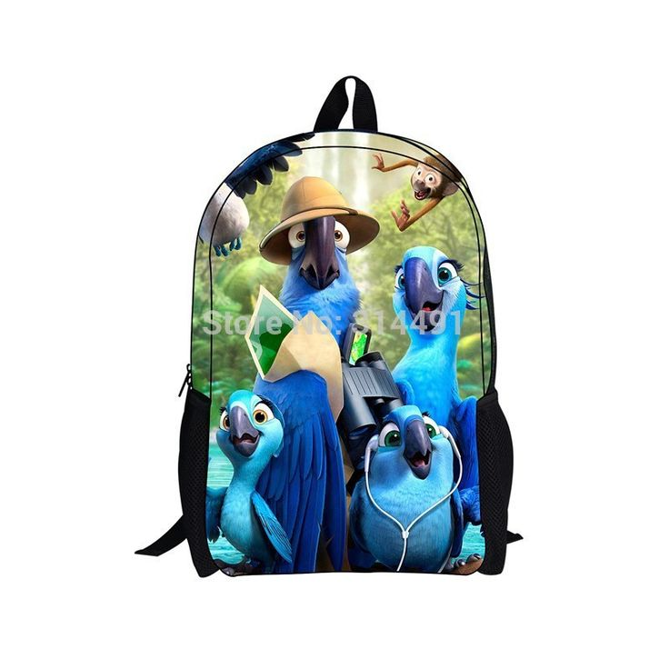 Children cartoon backpack school bag with Rio new design Rio back pack kids rucksack free student youth casual backpack shipping