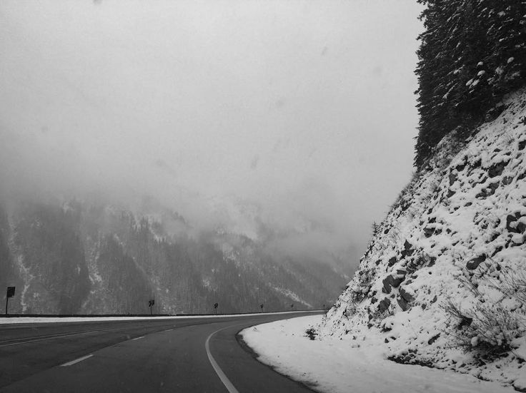 Stevens Pass the Cascade Mountains - driving to Leavenworth on Thursday #snow #cascades #pacificnorthwest #blackandwhite #iphonography