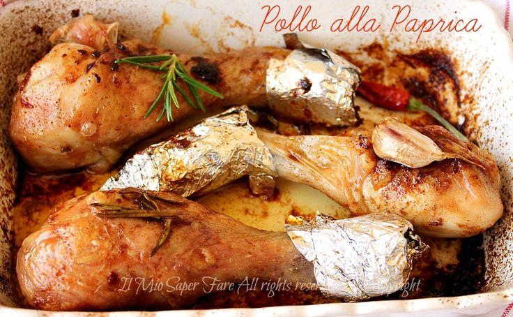 Pollo alla paprica al forno ricetta facile tenero gustoso e succoso #pollo #ricetteconpollo #paprica