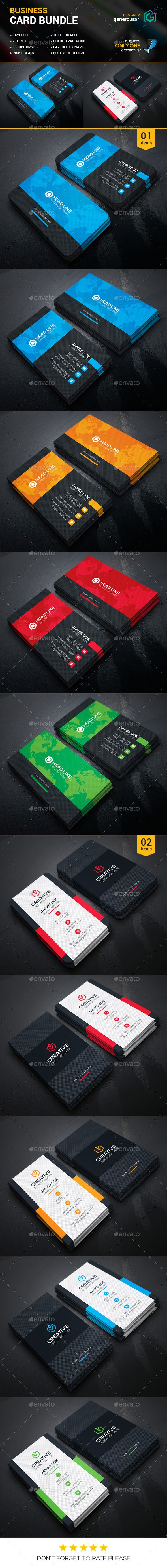 Business Card Bundle 2 in 1 Template PSD #design #visitcard Download: http://graphicriver.net/item/business-card-bundle-2-in-1_vol30/13101520?ref=ksioks