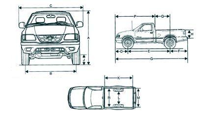 Dimensões S10 Cabine Simples