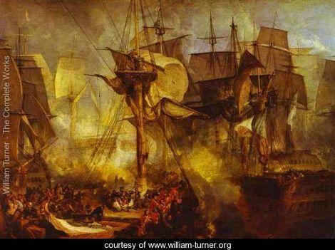 La batalla de Trafalgar W.Turner El Genio de la Luz Galería virtual http://territoriotoxico.wordpress.com/2014/11/24/willian-turner-el-artista-y-el-color/#jp-carousel-1072