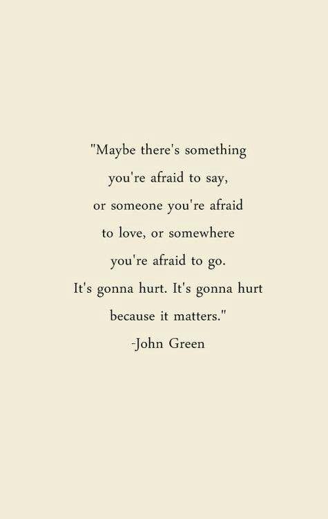 Afraid of