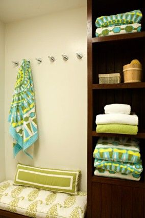 Pool House (I Worked On This Project Ages Ago   Loved These Towels From Tori