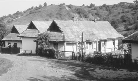 Houses in the village Holloko in northern Hungary in 1980. At the end of the twentieth century more than half of Hungarians grew food for their own use and for supplemental income.