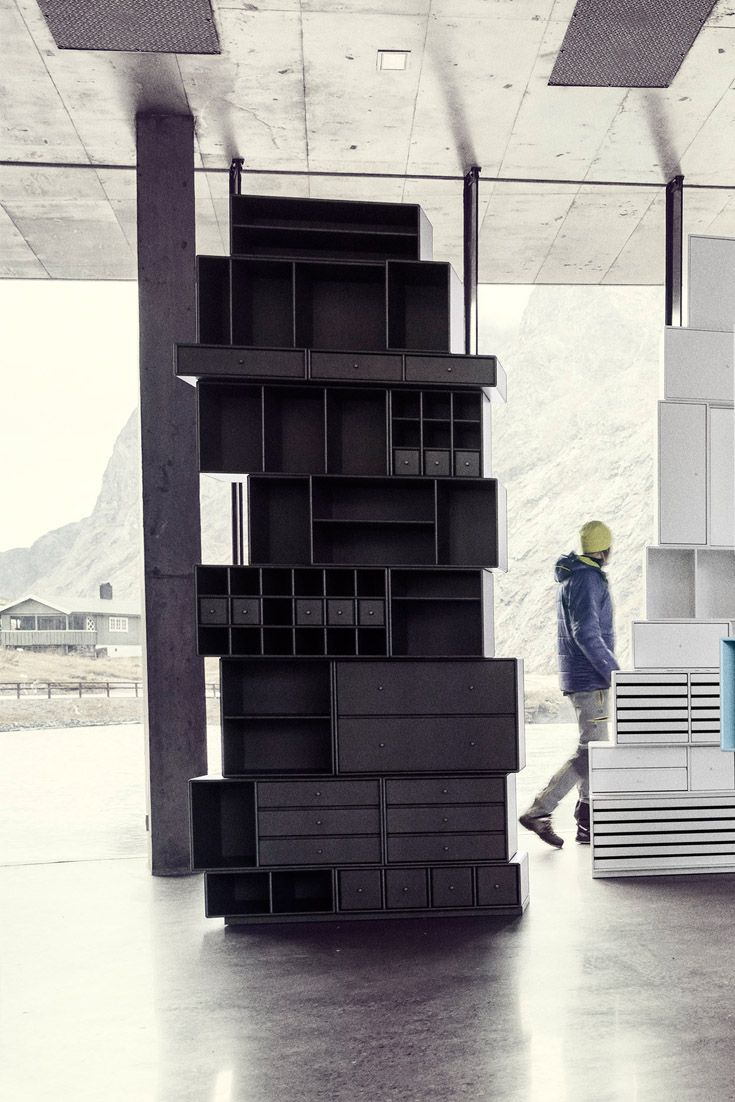 Black Mountain Composition. #montana #furniture #black #interior  #inspiration #mountain