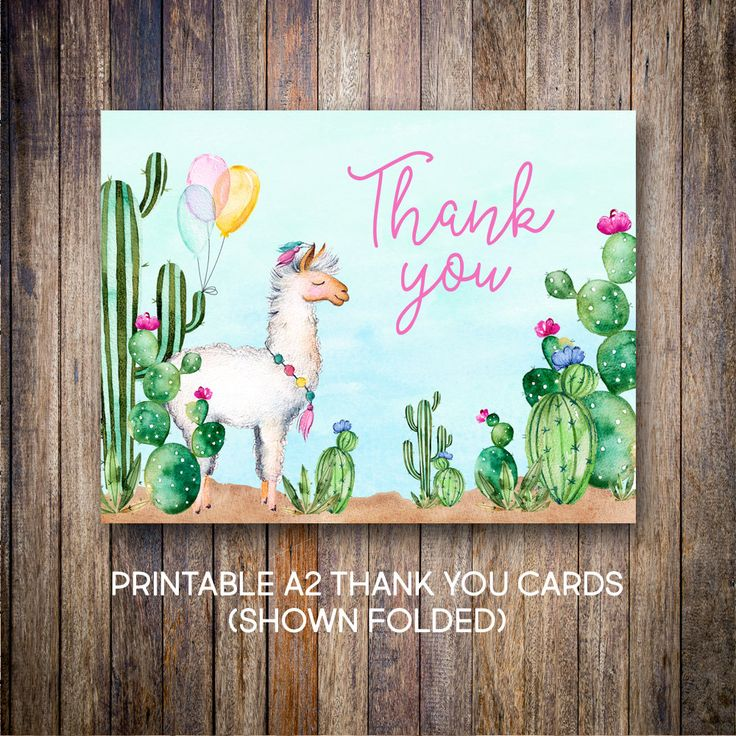 free online printable wedding thank you cards%0A Llama Thank You Cards  Watercolor Thank You Notes  Birthday Thank You   Watercolor Cactus  Green  Blue  Digital Download  Printable Card