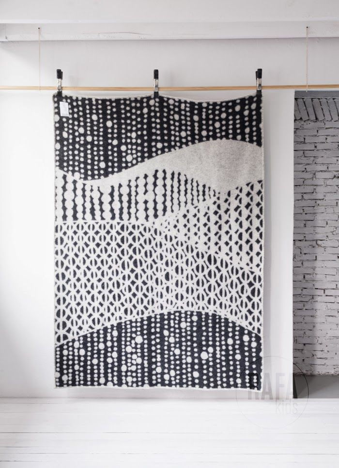 Scandinavian wool blanket field of dots available at Rafa-kids