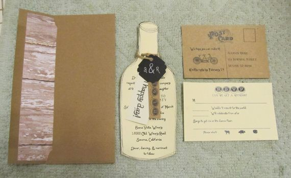 Wine/Vineyard Theme for wedding invitations