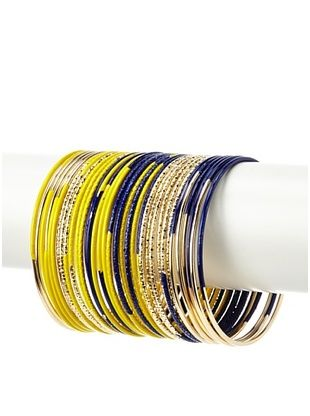60% OFF Helene Navy and Yellow Contrast Bangles