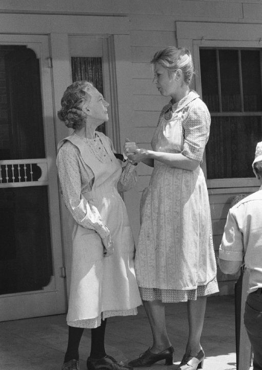 waltons photo gallery | Still of Ellen Corby and Michael Learned in The Waltons (1971)
