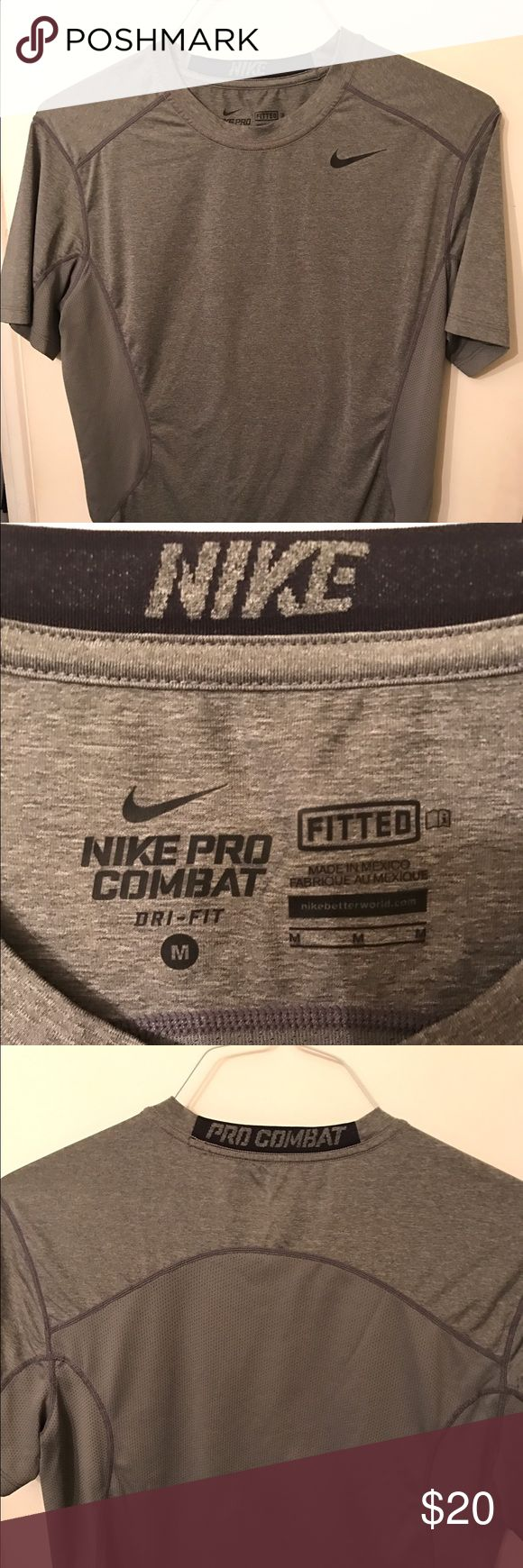 Nike Pro combat T-shirt in excellent condition Very nice Nike Pro combat T-shirt and excellent condition no rips tears or stains Nike Shirts Tees - Short Sleeve