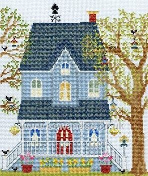 Buy New England Home in Spring Cross Stitch Kit Online at www.sewandso.co.uk