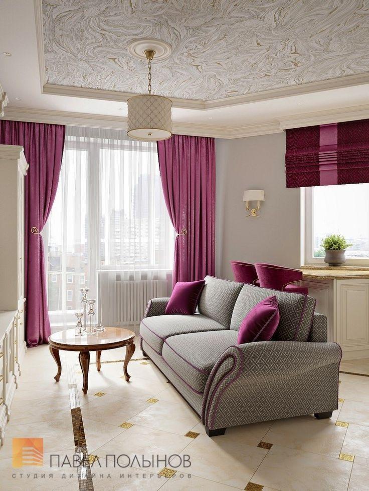 Фото дизайн гостиной из проекта «Дизайн квартиры 74 кв.м. в стиле американской классики, ЖК «Платинум»»