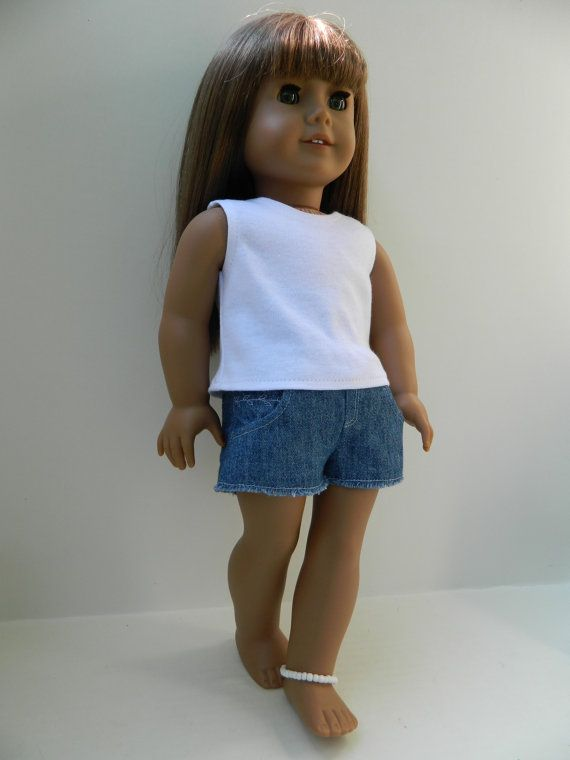 American Girl Doll Clothes   White Knit Tank Top by 18Boutique, $7.00