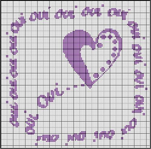 187 best images about Amour-Love-Coeur-heart-point de croix-cross stitch on Pinterest