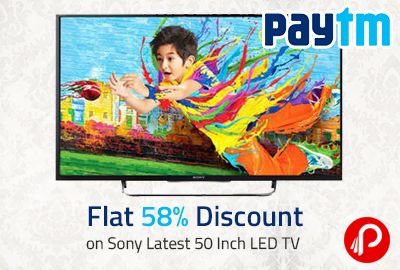 Get @sony #50inchLEDTV only in Rs. 76901 by @paytm. The final price is after deducting the Paytm cash from given price. The normal price of this product is Rs. 132900.  http://www.paisebachaoindia.com/flat-58-discount-on-sony-latest-50-inch-led-tv-paytm/