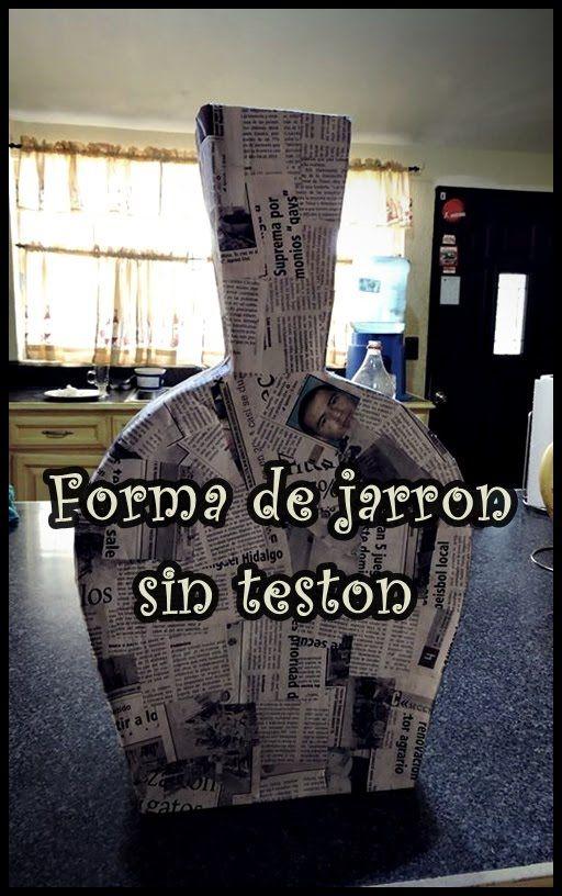 Como realizar un jarron de carton. 1era. parte.How to make a vase of car...