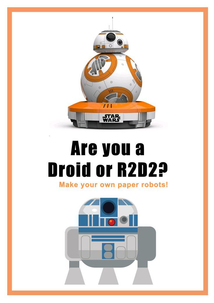 2015: Droids/R2D2 Papercraft poster
