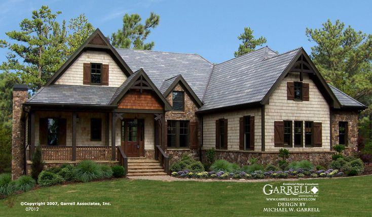 Garrell associates inc big mountain lodge house plan for Ranch house designs inc