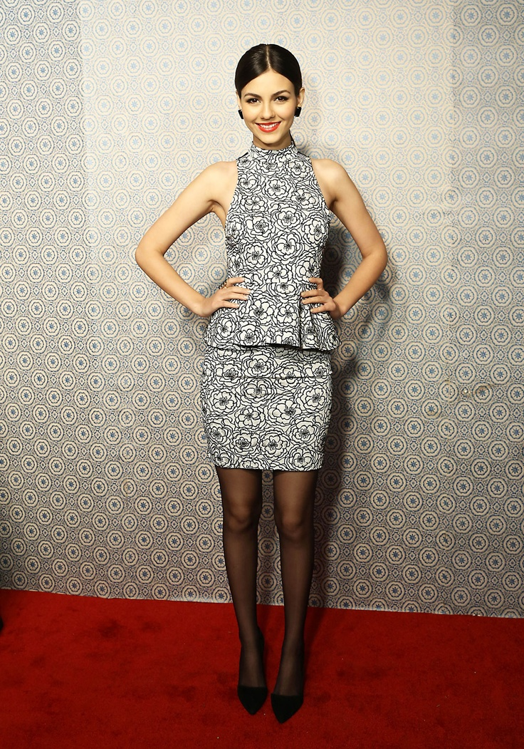 VICTORIA JUSTICE at Alice + Olivia by Stacey Bendet Fall 2013 Fashion Show in New York