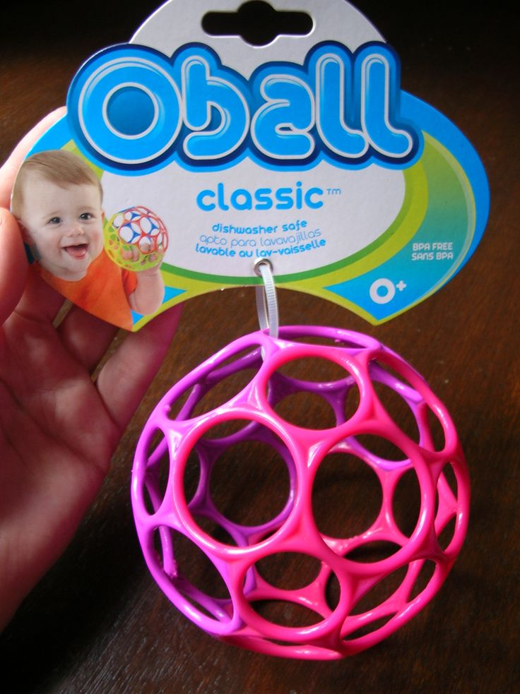 Oball Classic To play with Ball is really easy for little babies to pick up and hold onto.