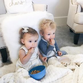 I love that these two have each other. They always make sure that the other one has their blankie...and sometimes steal each other's binkies. All is fair, they say #twins #mybabies #Regram via @asliceofstyle