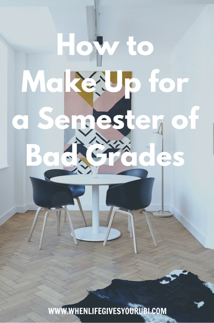 One bad semester doesn't have to be the end of the word, trust me, my first wasn't great either. Click to read what you can do to fix it TODAY!