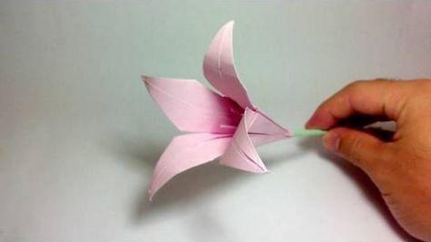 Kağıt Sanatı - Zarif Zambak Çiçeği Yapımı - Japon kağıt katlama sanatı - teknikleri, örnekleri ve ipuçlarını videolu anlatımı. Kağıttan güzel zambak çiçeği yapımı