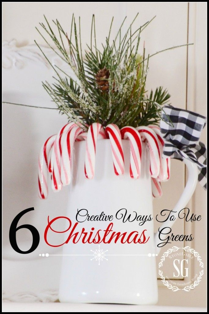 6 WAYS TO USE CHRISTMAS GREENS-here's some pretty ways to bring  little festive greeens to your home-stonegableblog