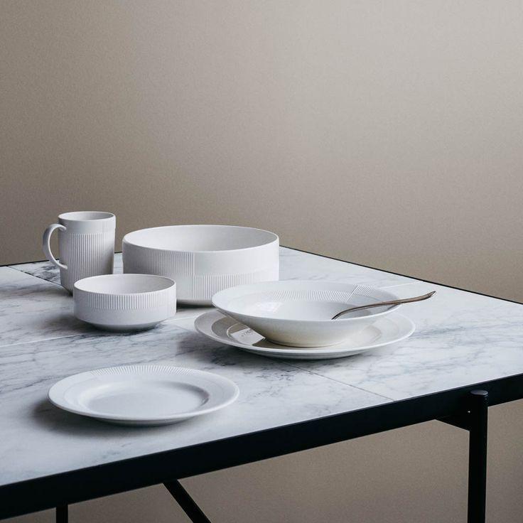 service duet de rosendahl en porcelaine blanche fine. Black Bedroom Furniture Sets. Home Design Ideas