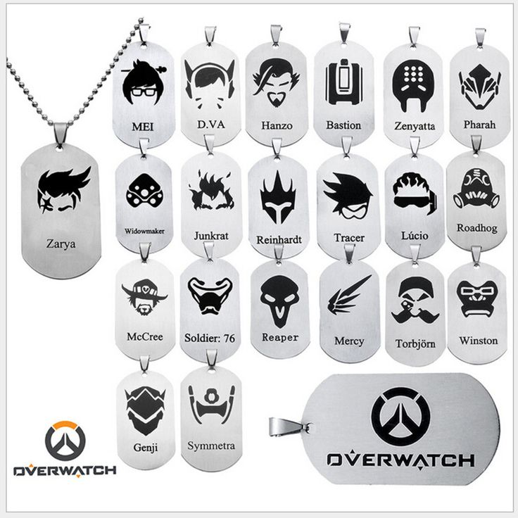 New Arrival Overwatch Pendant Necklace FPS GAME All heroes log tracer reaper widowmaker Hanzo Metal OW necklaces jewelry