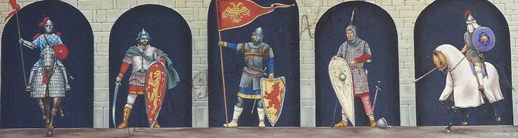 Βυζαντινοί στρατιώτες ακρυλικό σε καμβά