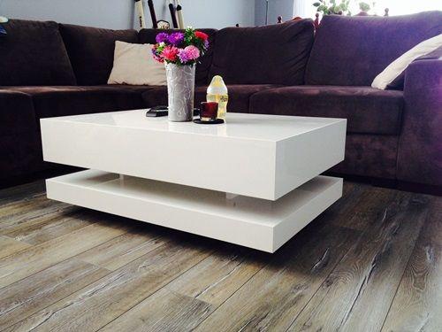 Eleganckie białe stoliki do salonu w wysokim połysku - zestawienie naszych najpopularniejszych modeli :)