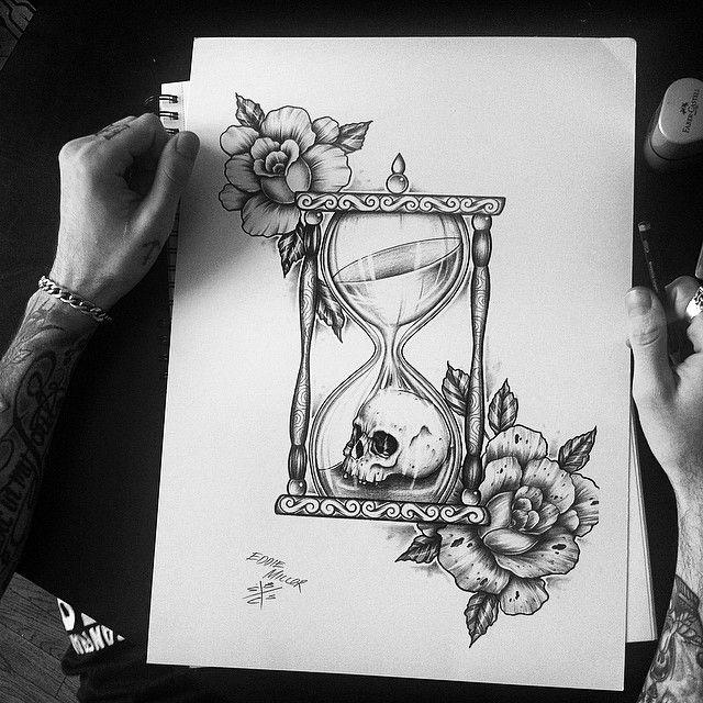 #edwardmiller #skull #hourglass for a custom design email me or DM
