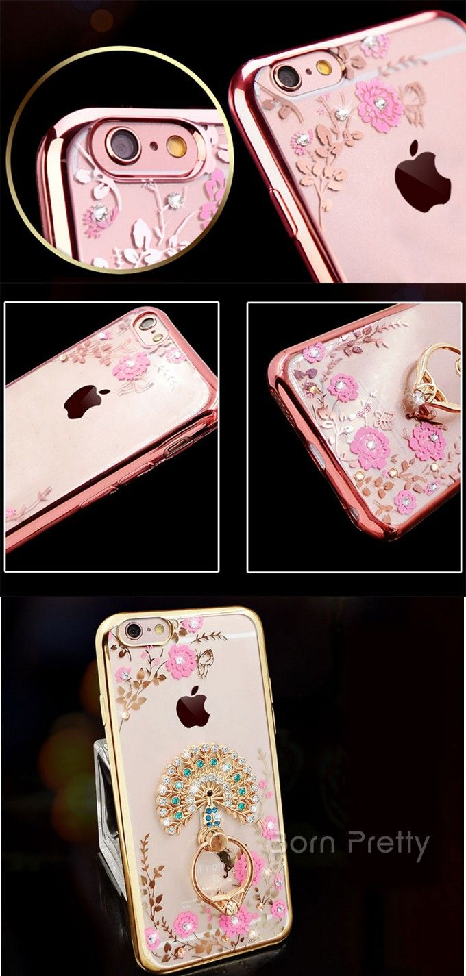 JPY ¥775 1個 おしゃれ孔雀*ラインストーン*花*フラワーデザインメタルホルダーiphone5/6/6 plusバックケース携帯ケースフォンカバー - harunouta.com