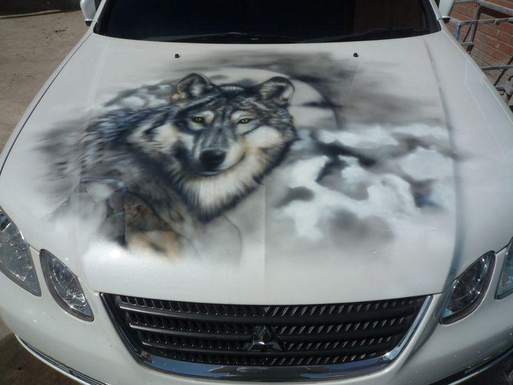 wolf airbrush | airbrush | Pinterest | Cars  wolf airbrush |...